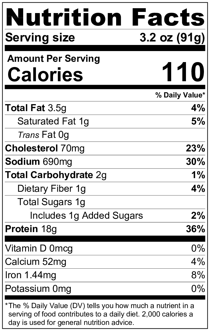 hanzlian's sausage nutrition facts